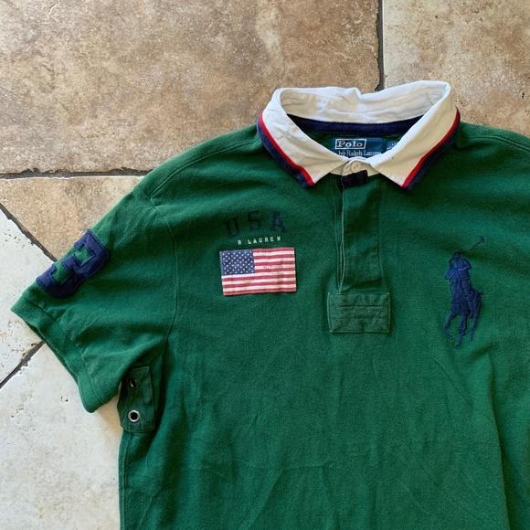 72a7fd63 Vintage 90s Polo Ralph Lauren Flag USA 3 Polo Sz L.  M_5caf955a248f7aa413674f6a